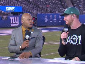 Wentz explains two 'broken plays' that saved Eagles vs. Giants