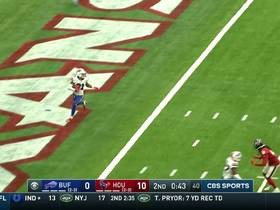 Watson throws pick under pressure in end zone to Jordan Poyer