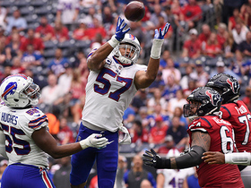 Lorenzo Alexander tips pass for his second career INT