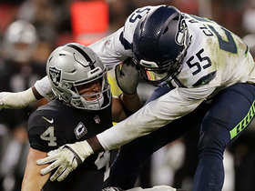 Frank Clark forces strip-sack deep in Raiders territory