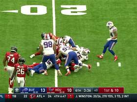 Watson gets sacked by Hughes for a 6-yard loss
