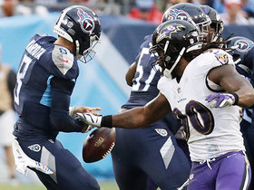 Za'Darius Smith strip-sacks Mariota on third down, but Titans recover
