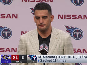 Mariota reacts to being sacked 11 times by Ravens