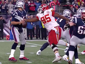 Chris Jones sneaks up to strip-sack Tom Brady out of nowhere