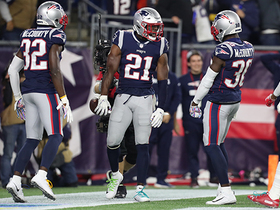 Duron Harmon tips ball to himself for INT in end zone