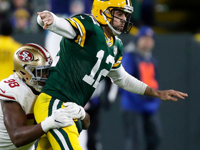 Ronald Blair wraps up Rodgers for key third-down sack
