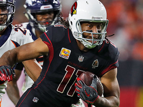 Larry Fitzgerald burns Chris Harris Jr. over the middle