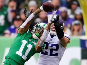 Robby Anderson makes leaping catch for a 25-yard gain