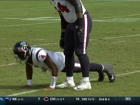 Watson does push-ups after being hit on pass completion