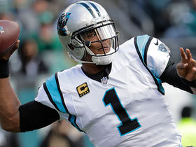 Newton completes crucial pass under pressure for 35-yard gain