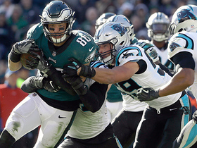 Panthers recover fumble to seal win over Eagles