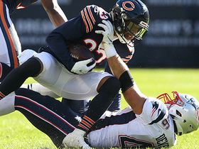 Adrian Amos rips ball loose into Kyle Fuller's hands for INT