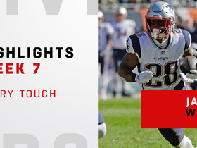 Every touch by James White vs. Bears   Week 7