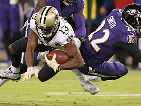 Brees floats pass over defender to Michael Thomas for 32 yards