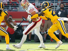 George Kittle caps impressive drive with toe-tap TD