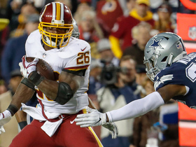Adrian Peterson gallops into the red zone