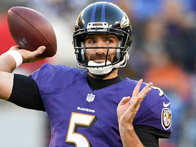 Flacco's fourth-down pass ping-pongs before falling incomplete