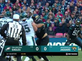 Dareus knocks ball out of Wentz's hand to force fumble