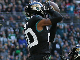 Jalen Ramsey LEAPS for end-zone interception