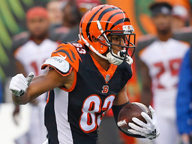 Tyler Boyd comes up short of end zone on 28-yard catch
