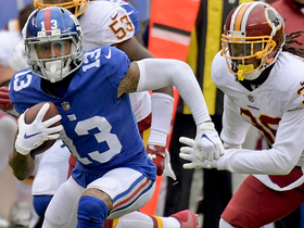 OBJ escapes tackle for first down