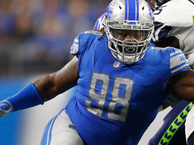 Damon 'Snacks' Harrison gets sack in first game with Lions