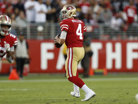 Mullens changes up his arm angle on 15-yard pass to Kittle