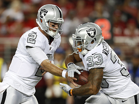 A.J. McCarron completes first pass as a Raider