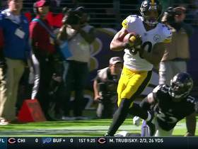 James Conner glides 25 yards through Ravens defense