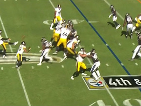 Big Ben shows punting skills on fake fourth down