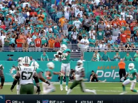 Dolphins defense has 4 sacks and 4 interceptions vs. Jets