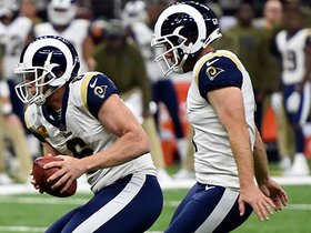 Hekker comes up JUST shy of first down after fake FG
