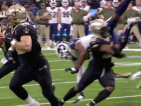 Mark Ingram flips Dante Fowler on block