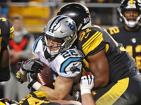 Christian McCaffrey scores third TD on run up the middle