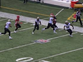 Marcus Williams nearly returns Dalton's INT for TD