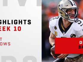 Brees' best throws from near-perfect day | Week 10