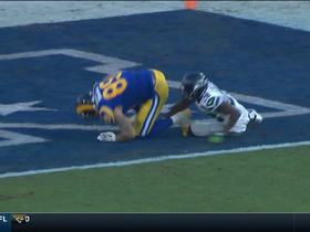 Goff slings back-shoulder pass to Higbee for 10-yard TD