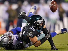 Clock expires on Ertz's final play for Eagles