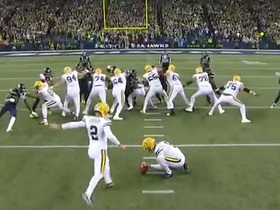 Mason Crosby's 47-yard FG attempt hooks left