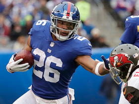 Saquon erupts up the middle for 23-yard chunk