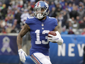 OBJ finds open field for 27-yard catch downfield