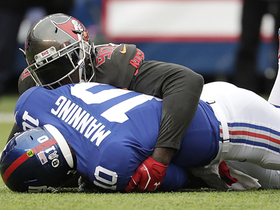 JPP fired up after sack on former teammate Eli Manning