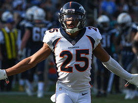 Chris Harris rips ball away from Tyrell Williams for INT