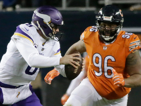 Akiem Hicks charges through line to sack Cousins