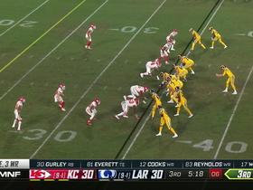 Cooks converts third-down screen behind Havenstein's pancake block