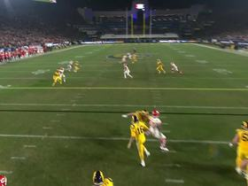 Goff slings a pass to Cooks for 21 yards