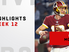 Highlights from Colt McCoy's first game as Redskins starter | Week 12