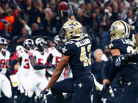 Marcus Williams reaches up at last second to knock ball loose, Saints recover