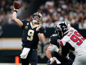 Brees, Carr fool Falcons' defense for TD