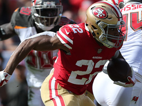Matt Breida darts past Bucs defense for 33-yard gain